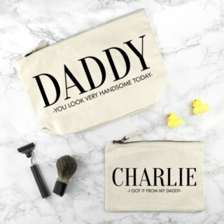 Toilettassen Set Crème Daddy & Me