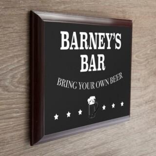 Ophang Bord 'Welcome To My Bar' Gepersonaliseerd