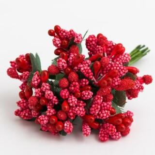 Bessen Decoratie - Rood 72 stuks