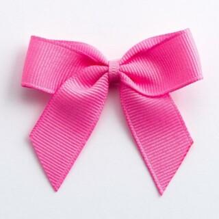 Grosgrain Strikjes Hot Pink (Zelfklevend) 5 cm - 12 stuks
