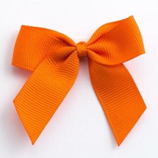 Grosgrain Strikjes Oranje (Zelfklevend) 5 cm - 12 stuks