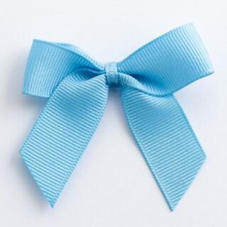 Grosgrain Strikjes Lichtblauw (Zelfklevend) 5 cm - 12 stuks
