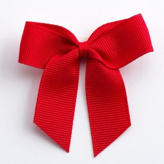 Grosgrain Strikjes Rood (Zelfklevend) 5 cm - 12 stuks
