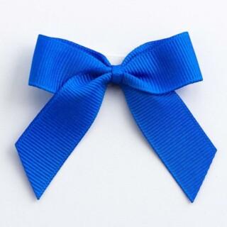 Grosgrain Strikjes Koningsblauw (Zelfklevend) 5 cm - 12 stuks