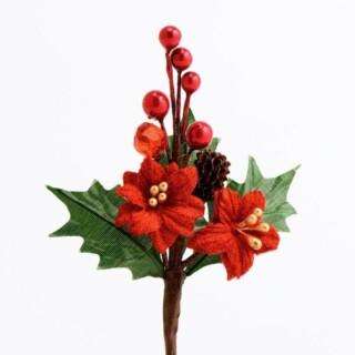 Besjes & Kerstster Decoratie - Bordeaux 12 stuks