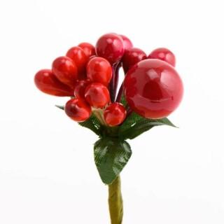 Rode Besjes Decoratie - 12 stuks