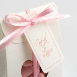 Cadeau Labels Roze 'With Love' - 24 Stuks