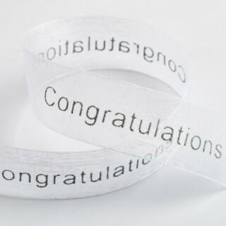 Congratulations Organza Lint Wit