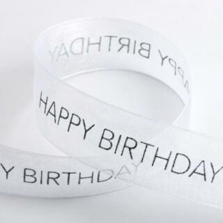 Happy Birthday Organza Lint Wit