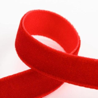 Fluweel Lint Rood 9 mm x 10 M