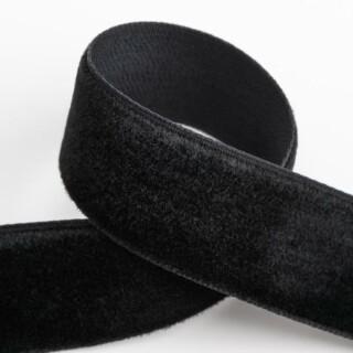 Fluweel Lint Zwart 18 mm x 10 M