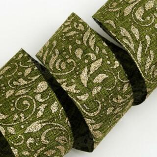 Lurex Hessian Lint Goud / Groen