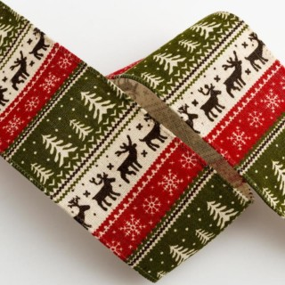 Scandinavisch Kerstlint Verstevigde Rand