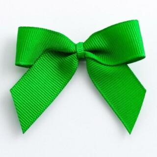Grosgrain Strikjes Emerald (Zelfklevend) 5 cm - 12 stuks