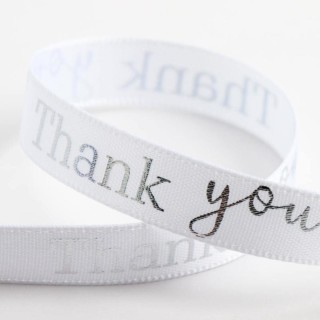Thank You Lint Wit / Zilver