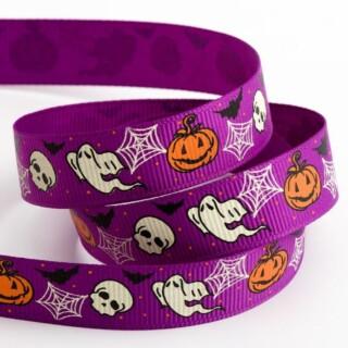 Spooky Halloween Grosgrain Lint Paars