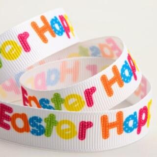 Happy Easter Grosgrain Pasen Lint