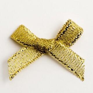 Lurex Strikjes Metallic Goud 3 cm - 100 stuks