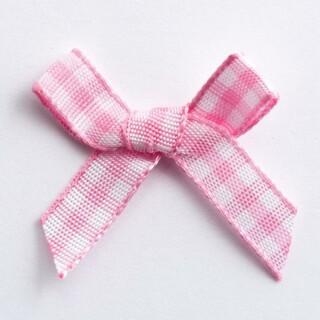Gingham-ruit Strikjes Roze 3 cm - 100 stuks