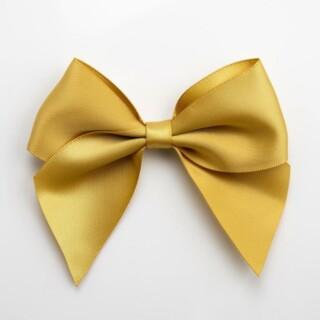 Satijnen Strikken Goud (Zelfklevend) 10 cm - 6 stuks