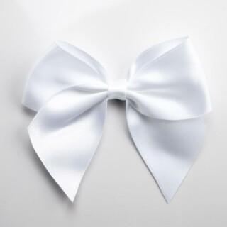 Satijnen Strikken Wit (Zelfklevend) 10 cm - 6 stuks