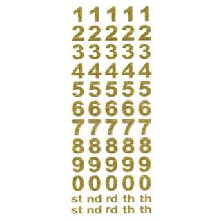 Zelfklevende Nummers Vetgedrukt - Goud Glitter