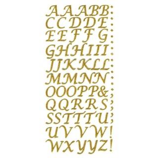 Zelfklevende Letters Script - Goud Glitter