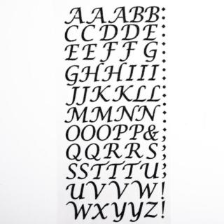 Zelfklevende Letters Script - Zwart Glitter