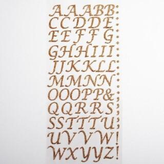 Zelfklevende Letters Script - Rose Goud
