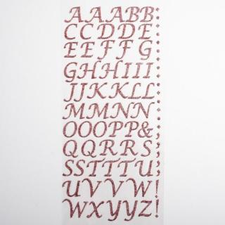 Zelfklevende Letters Script - Rose Pink