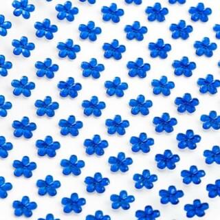 Zelfklevende Bloemvormige Strass steentjes - Koningsblauw