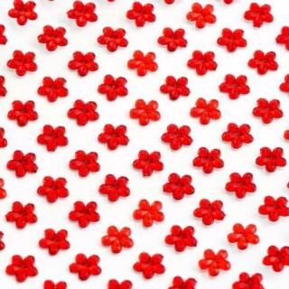 Zelfklevende Bloemvormige Strass steentjes - Rood