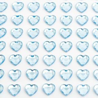 Zelfklevende Hartjes - Blauw