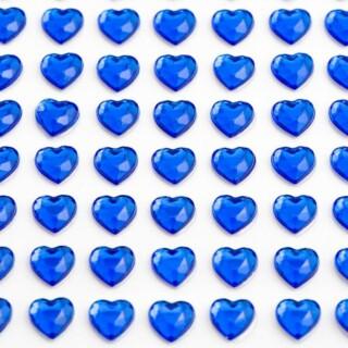 Zelfklevende Hartjes - Koningsblauw