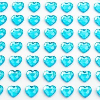 Zelfklevende Hartjes - Turquoise