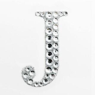 Zelfklevende Diamante Glitter Letter J