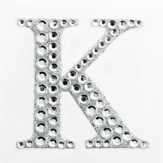 Zelfklevende Diamante Glitter Letter K