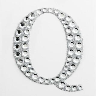 Zelfklevende Diamante Glitter Letter Q