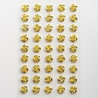 Zelfklevende Metallic Roosjes - Goud