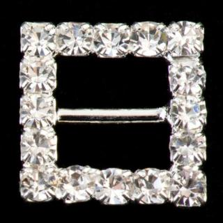Kleine Vierkante Gesp Diamant - 10 stuks
