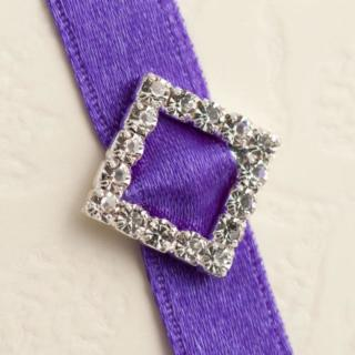 Kleine Diagonale Vierkante Gesp Diamant - 10 stuks