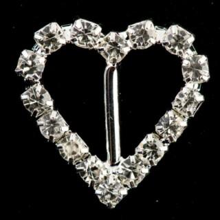 Diamant Gesp Hart Medium - 10 stuks