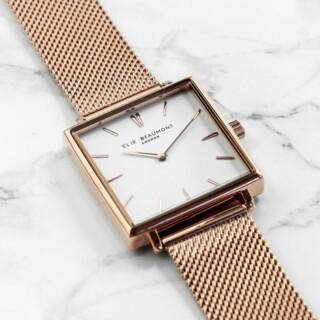 Elie Beaumont Dames Horloge Rose Gold Metallic Gepersonaliseerd