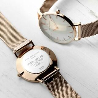 Elie Beaumont Dames Horloge Roségoud met Witte Wijzerplaat