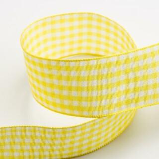 Yellow Gingham Ribbon