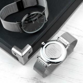 Mr Beaumont Heren Horloge Zilver Metallic Gegraveerd