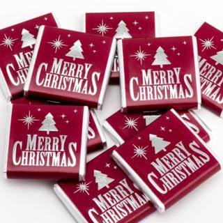 Kerst Chocolade - Merry Christmas Bordeaux