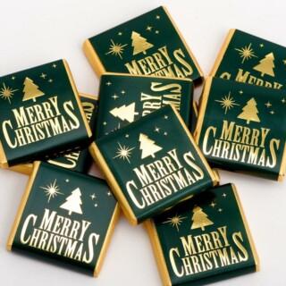 Kerst Chocolade - Merry Christmas Groen