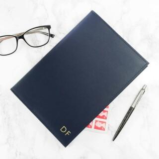 Navulbaar Leren Notitieboek met Initialen