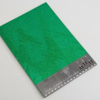 Glitter Kaarten Groen - 10 Stuks